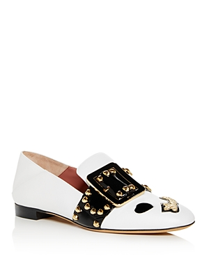 Bally Women's Janelle Embellished Leather Smoking Slippers