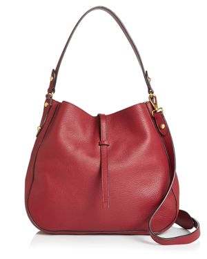 ANNABEL INGALL Brooke Leather Hobo in Barberry Red/Gold