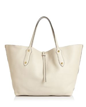 ANNABEL INGALL Isabella Large Leather Tote in Linen/Gold