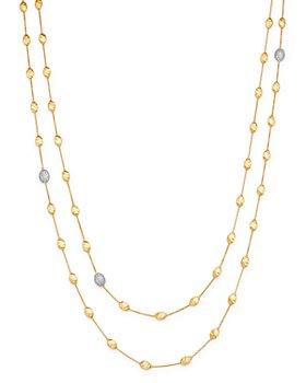"Marco Bicego - 18K Yellow Gold Siviglia Diamond Long Station Necklace, 49.25"""