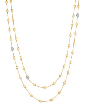 Marco Bicego - 18K Yellow Gold Siviglia Diamond Long Station Necklace, 49.25""