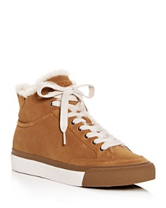 rag & bone - Women's Orion Shearling High-Top Sneakers