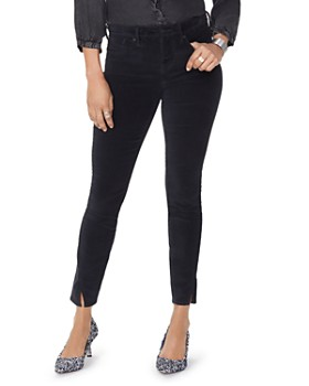 NYDJ - Ami Velvet Twist Hem Jeans in Black