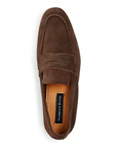 Gordon Rush - Men's Wilfred Suede Apron Toe Penny Loafers