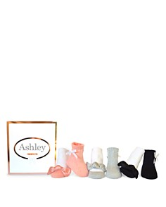Trumpette - Girls' Ashley Satin Bow Socks, Set of 6 - Baby