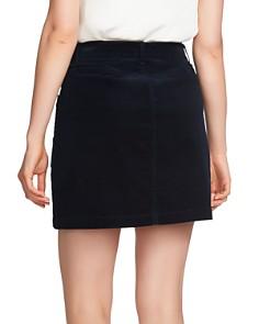1.STATE - Corduroy Zip-Front Mini Skirt
