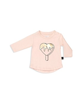 Huxbaby - Girls' Metallic Heart Pop Tee - Baby
