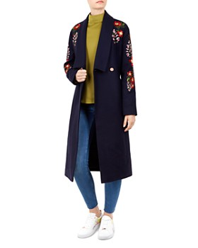 Ted Baker - Sirenaa Embroidered Wrap Coat