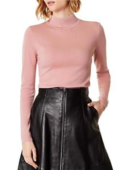 KAREN MILLEN - Wool Mock-Neck Sweater