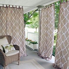 "Elrene Home Fashions Corado Geometric Indoor/Outdoor Curtain Panel, 50"" x 95"" - Bloomingdale's_0"