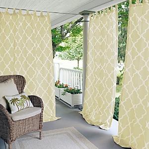Elrene Home Fashions Corado Geometric Indoor/Outdoor Curtain Panel, 50 x 95