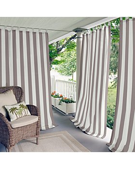 """Elrene Home Fashions - Highland Stripe Indoor/Outdoor Curtain Panel, 50"""" x 95"""""""