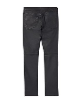 Ralph Lauren - Boys' Faux-Leather Moto Skinny Jeans - Little Kid