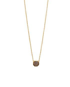 """Gorjana - Power Stone Adjustable Pendant Necklace, 18"""""""