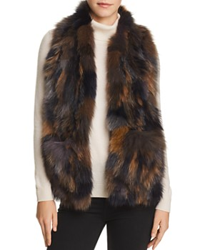 Jocelyn - Knit Fox Fur Pocket Scarf - 100% Exclusive