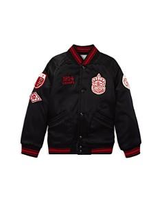 Ralph Lauren - Boys' Sateen & Ponte Reversible Baseball Jacket - Little Kid