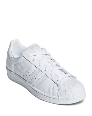 Women's Superstar Lace Up Leather Sneakers by Adidas