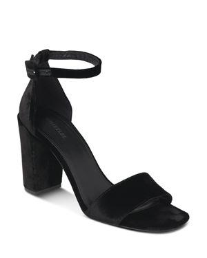 Whistles Women's Hedda Velvet Block Heel Sandal