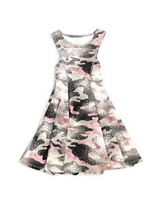 Terez - Girls' Metallic Camo-Print Dress - Little Kid