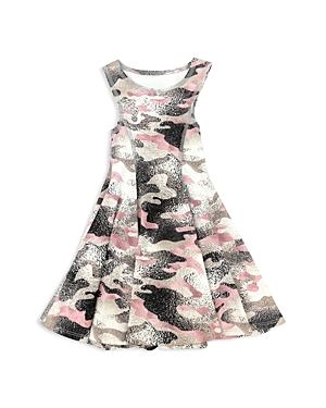 Terez Girls' Metallic Camo-Print Dress - Little Kid