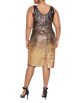 Rachel Roy Plus - Karine Ombré Sequined Dress