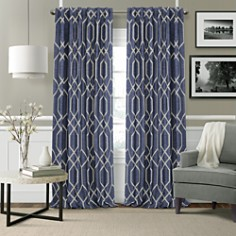 Elrene Home Fashions - Devin Textured Geometric Blackout Curtain Collection