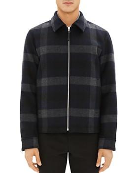 Theory - Wyatt Wool Plaid Jacket