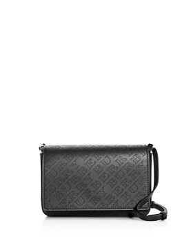 Burberry - Perforated Logo Leather Convertible Crossbody