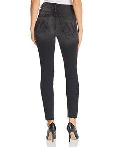 MOTHER - Looker High-Rise Ankle Fray Skinny Jeans in Night Hawk