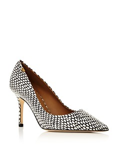 Tory Burch - Women's Penelope Pointed Toe Leather Pumps