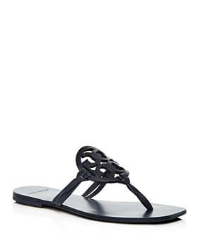 e44be849300 Tory Burch - Women s Miller Square Toe Leather Thong Sandals ...
