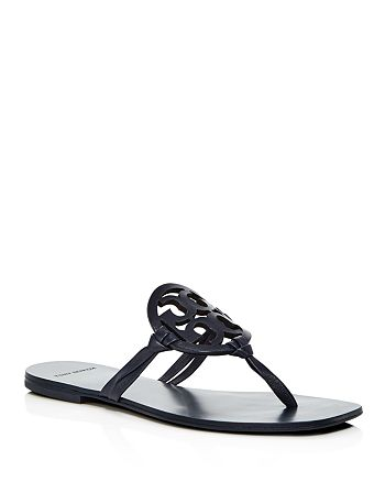dbad15692 Tory Burch Women s Miller Square Toe Leather Thong Sandals ...
