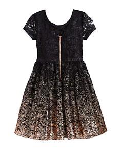 US Angels - Girls' Ombré Glitter Lace Dress - Little Kid