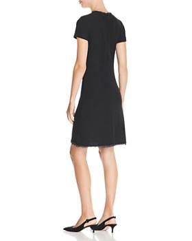St. John - Braid-Trimmed Bouclé Knit Dress
