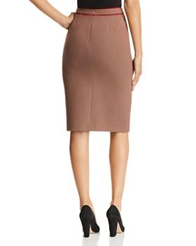 BOSS - Voliviena Zip-Front Plaid Skirt
