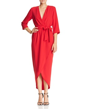 Amanda Uprichard - Provenance Faux-Wrap Midi Dress