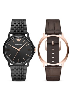 Emporio Armani - Three-Hand Watch, 41mm with Interchangeable Strap Gift Set