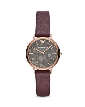 Women'S Purple Leather Strap Watch 32Mm, Gray/Purple