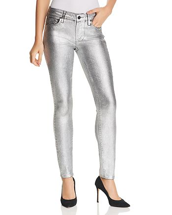 Paige Verdugo Ultra Skinny Jeans In Silver Galaxy Coating Bloomingdale S