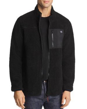 FLAG & ANTHEM Vinson Sherpa Jacket in Black/Black