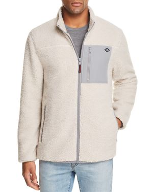 FLAG & ANTHEM Vinson Sherpa Jacket in Oatmeal/Gray
