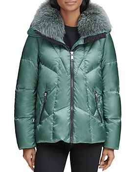 Andrew Marc - Naya Fox Fur Trim Short Puffer Coat