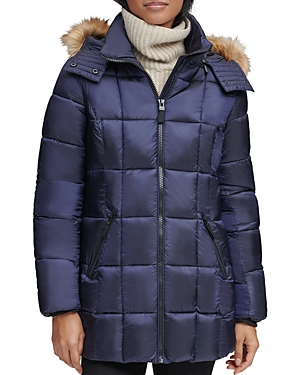 Marc New York Riverdale Faux Fur Trim Hooded Puffer Coat