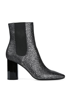 Donald Pliner - Women's Laila Pointed Toe Glitter Suede Booties