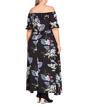 e6dff05a970 ... City Chic Plus - Blossom Fest Off-the-Shoulder Maxi Dress