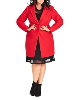 City Chic Plus - Bromley Snap-Front Coat