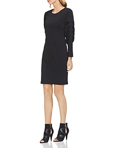 VINCE CAMUTO - Pleated Bubble Sleeve Dress