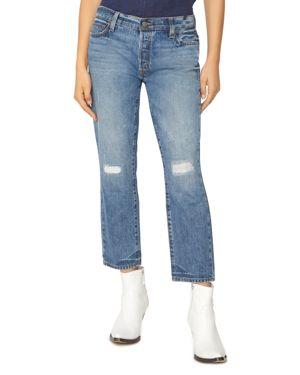 Sanctuary Disrupt Rip & Repair Crop Jeans in Flat Iron 3046550