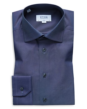 Eton - Micro-Dobby Slim Fit Dress Shirt