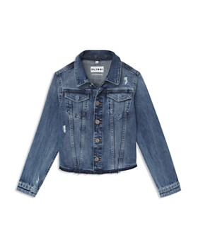 6d676d35750d DL1961 - Girls  Denim Jacket with Knit Sleeves   Hood - Little Kid ...